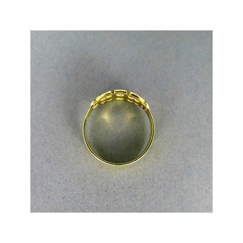 Antiker Goldring mit Rubinen und Diamanten 55000