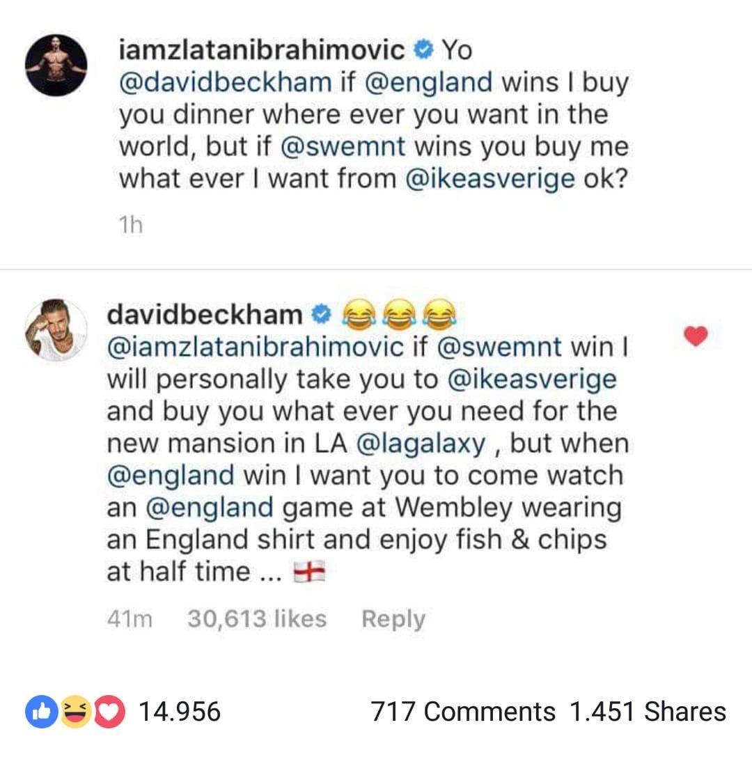 Ibra e Beckham si punzecchiano su twitter