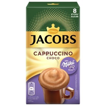 Jacobs instant cappuccino choco milka 144g (8x18g)