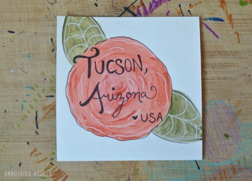 Greetings from Tucson Mail Art by Annotated Audrey 4