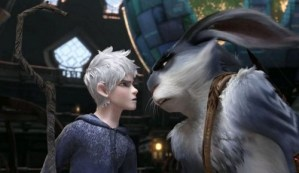 jack frost and easter bunny stare down rise of the guardians