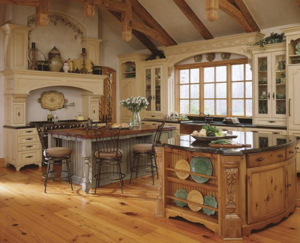 old world french country kitchen Hot Kitchen Trends | The Picket Fence Blog