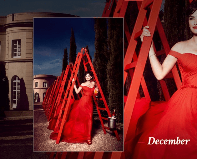 Campari_December-2013 Calendar starring Penelope Cruz