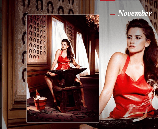 Campari_November-2013  Calendar starring Penelope Cruz