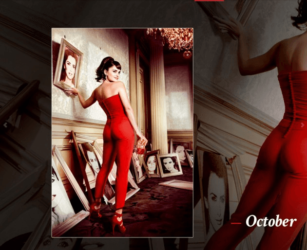 Campari_October-2013  Calendar starring Penelope Cruz