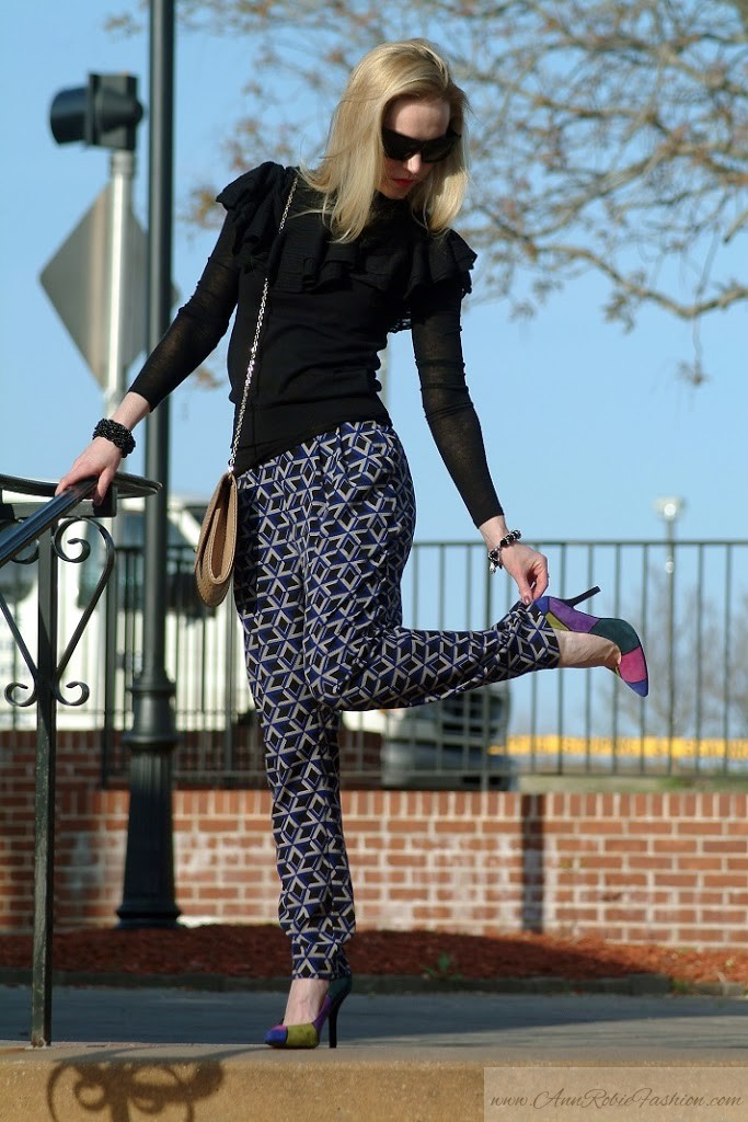 Black Ralph Lauren Top & Forever 21 Pants outfit