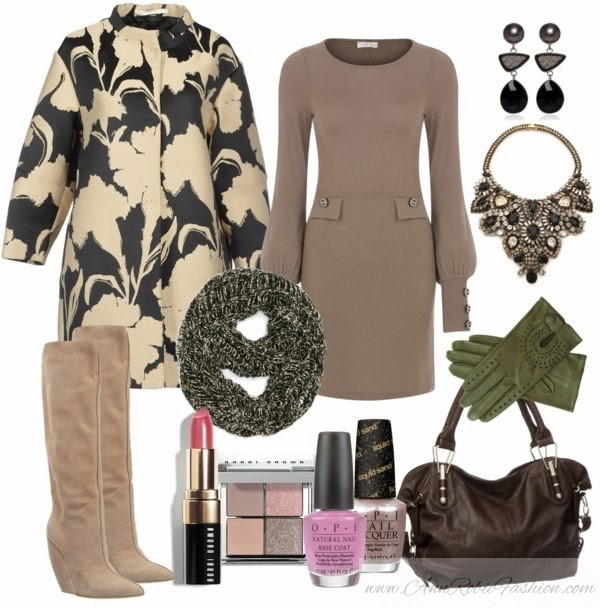 Outfit of the day: Cold Brown, Beige & Green