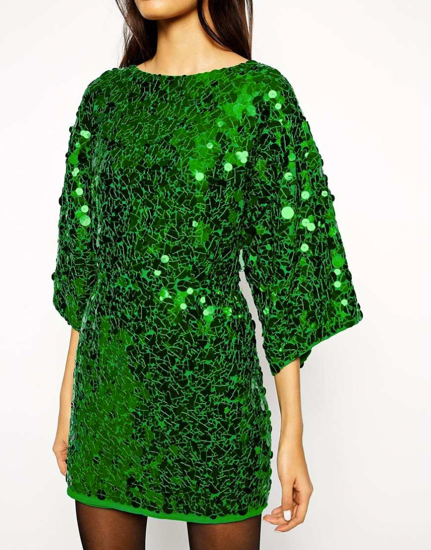 Sequin-Mini-Dress-for-Christmas-emerald-green-dress-Asos