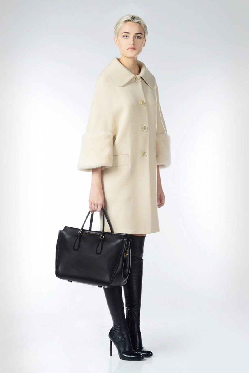 Wish List: Ermanno Scervino coat with fur trim, over the knee black leather boots