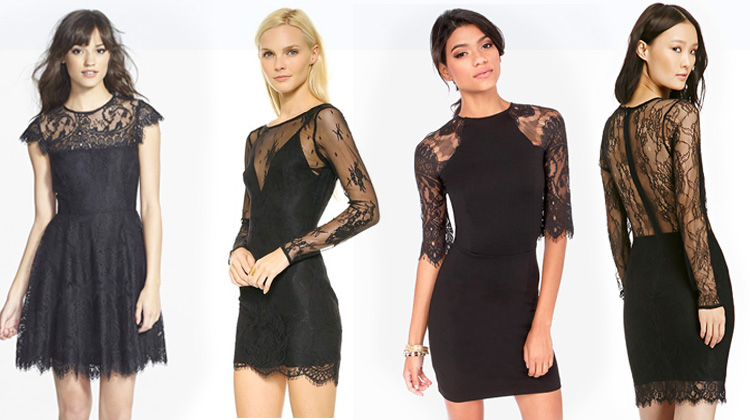 Black lace dresses under $100