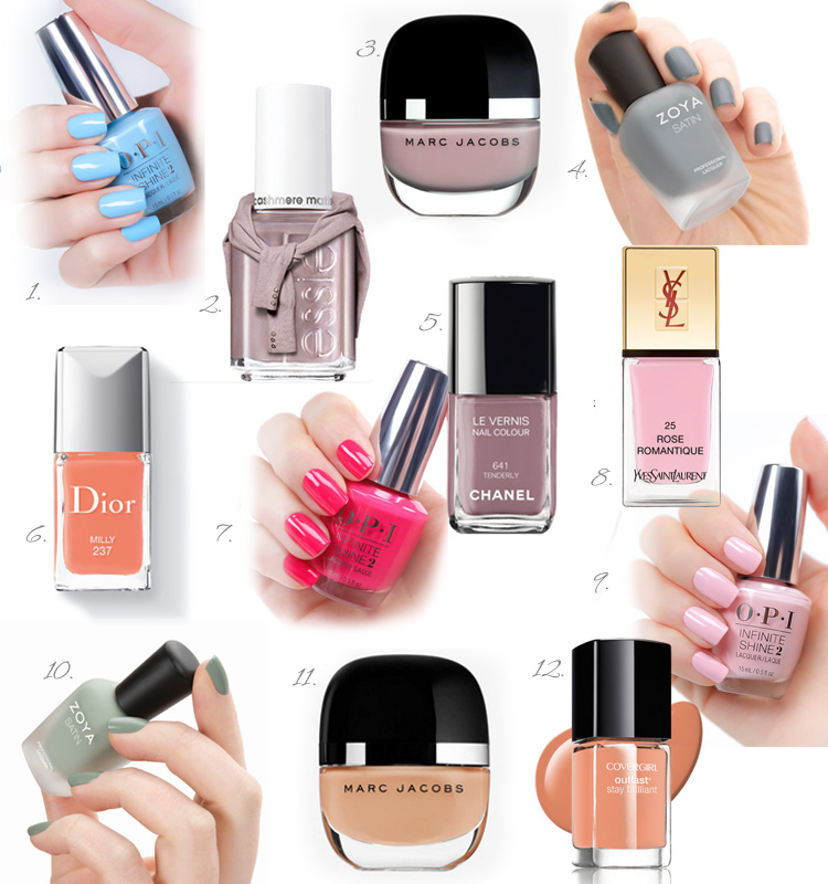 Romantic nail polishes collection by Ann Robie Fashion