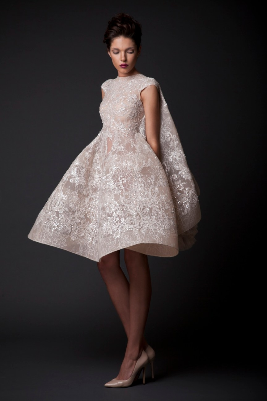 krikor Jabotian short dress collection fw 14/15