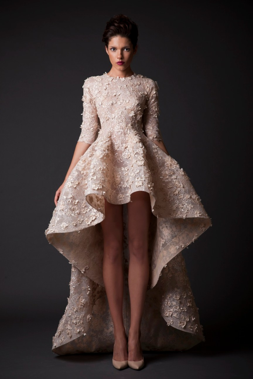 krikor Jabotian fw 14/15 short lace dress