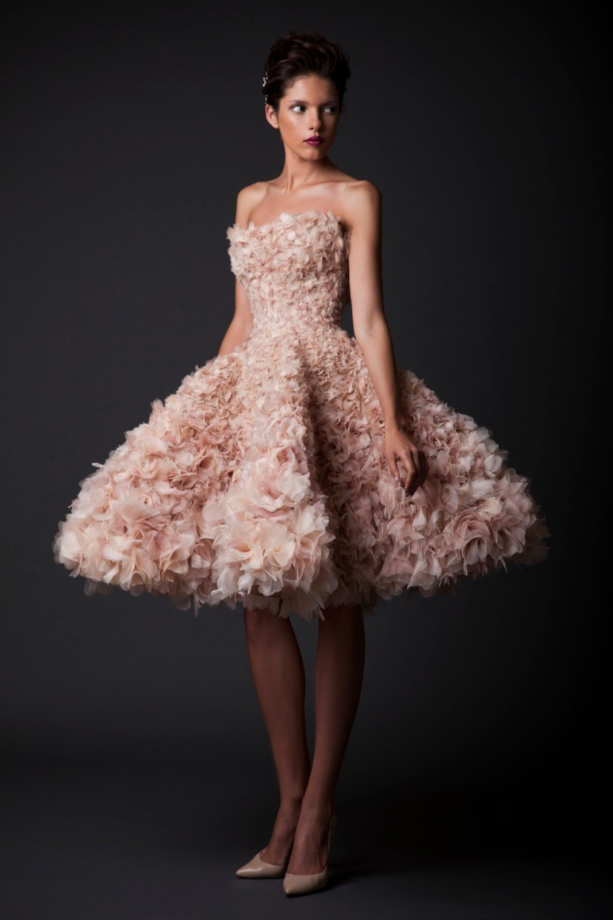 krikor Jabotian fw 14/15 blush short dress