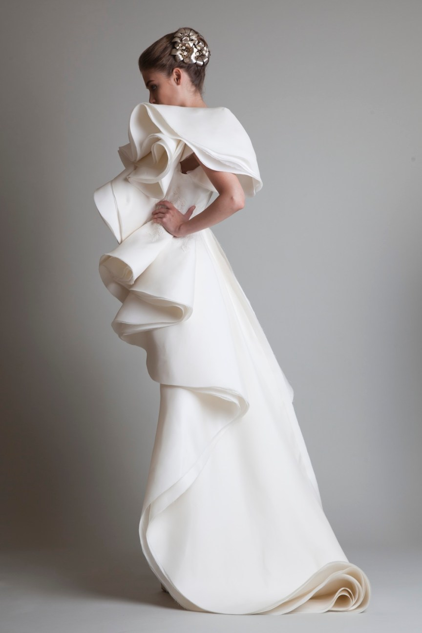 krikor Jabotian fw 13/14 white short dress