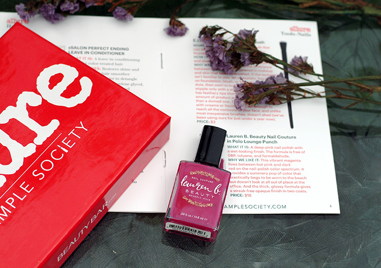 Allure June 2015, review by style blogger AnnRobieFashion Lauren B. Beauty Nail Couture in Polo Lounge Punch