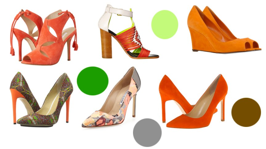 Orange pumps for fall