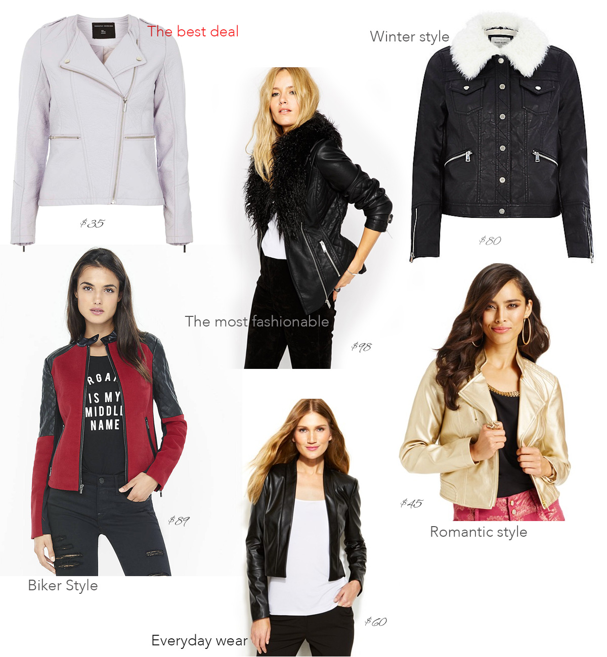 Leather jacket under 100 - Black Friday Deals The Faux Leather Jackets Under 100