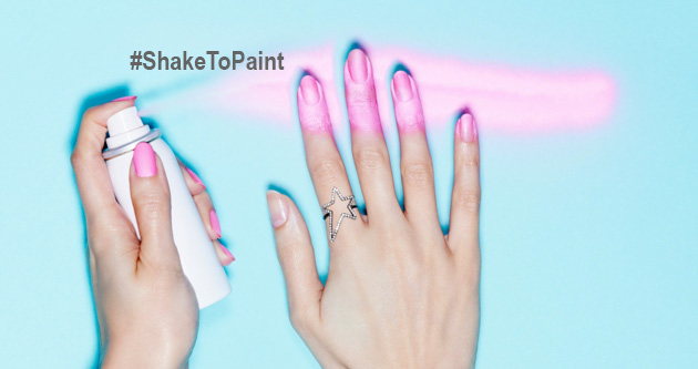 Paint spray Nails Inc #ShakeToPaint