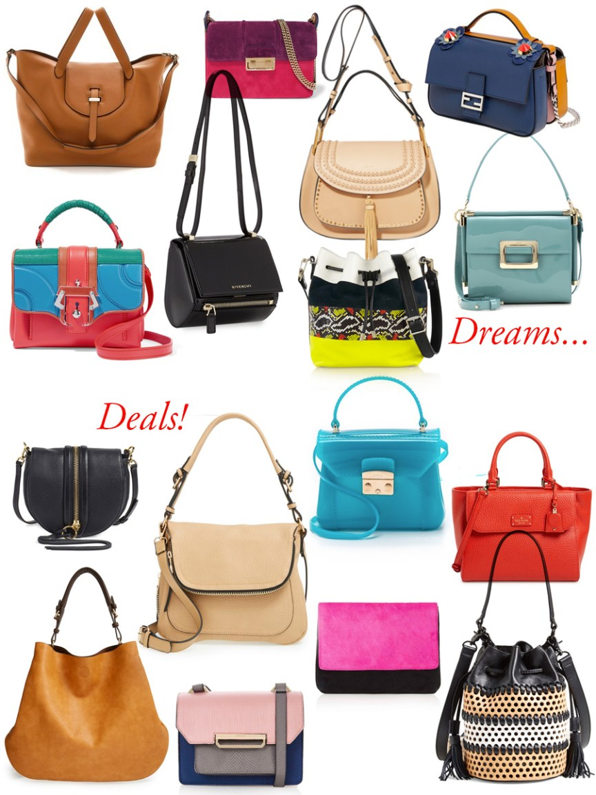 Colorful and affordable bags for spring - list by style blogger AnnRobieFashion