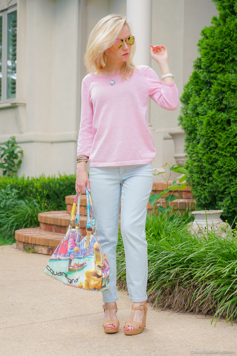Summer Pastel: Serenity & Rose Quartz - casual outfit by petite style blogger AnnRobieFashion