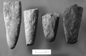 These stone points were hafted to an ard and used to till the soil.