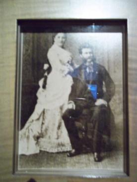 Johann Strauss und seine zweite Gattin Angelika