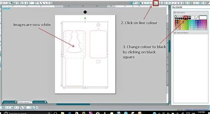 Changing the line colour of your drawing in Silhouette Studio.