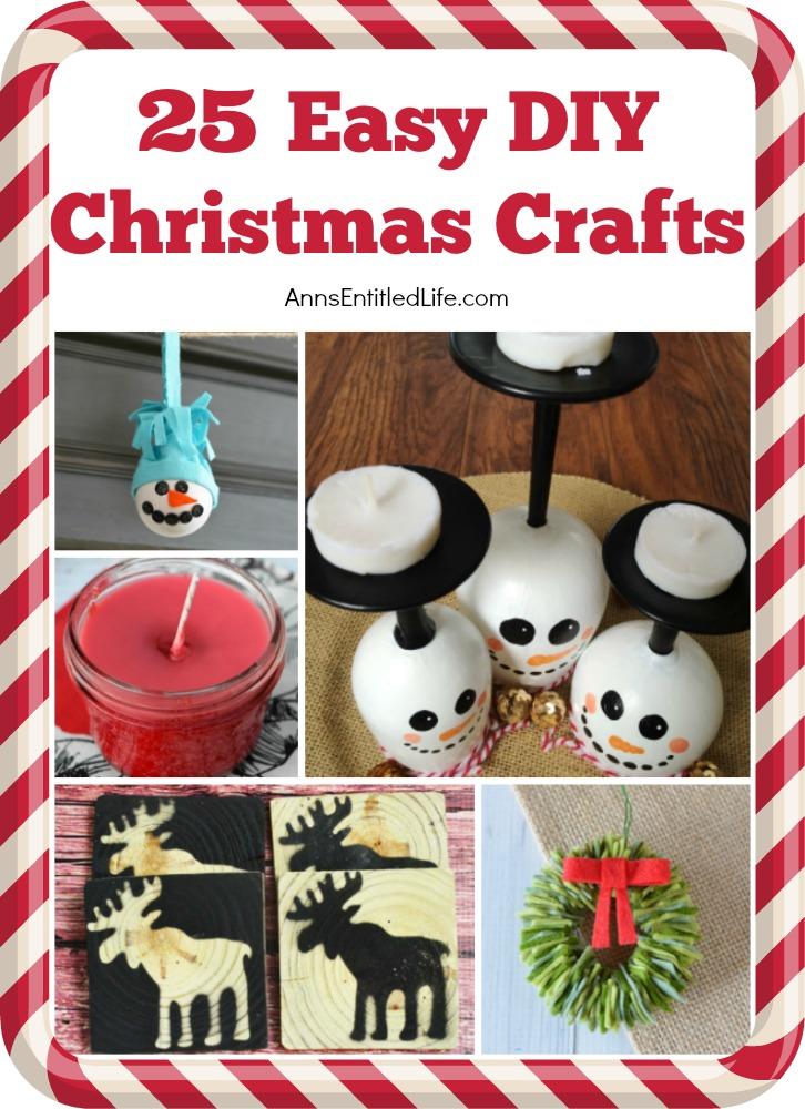 25 Easy Diy Christmas Crafts
