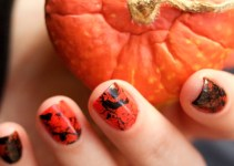 Morgan Taylor Halloween Collection 2014 - Orange Crush swatches splatter nails