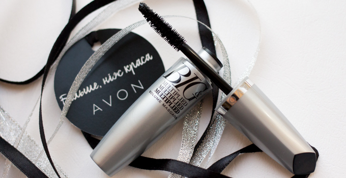 Avon BIG&Multiplied Volume Mascara swatches Ann Sokolova