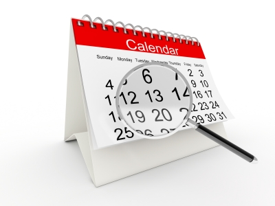 Calendar of classes and events page