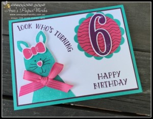 Ann's PaperWorks Ann Lewis #stampinup (Aus) Playful Pals Number of Years