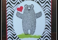 Bear Hugs Stamp Set and Bear Hugs Framelits dies, Go Wild DSP #stampinup Ann's PaperWorks Ann Lewis Australia