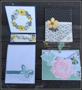 Fancy Fold Card May card making class|Stampin' Up! Ann's PaperWorks Ann Lewis Stampin' Up! (Aus)