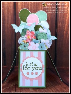 Birthday Bouquet Card in a Box| Balloon Celebration| Stampin' Up! Ann's PaperWorks Ann Lewis Stampin' Up! (Brisbane Aus)