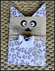 Go Wild Cat Treat Bag| Stampin' Up! Ann's PaperWorks Ann Lewis Stampin' Up! (Aus)|