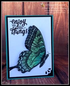 Swallowtail 3-D| Stampin' Up! Ann's PaperWorks Ann Lewis Stampin' Up! (Aus)|April cardmaking class