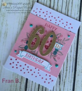 Large Numbers Framelits Dies|Handmade birthday cards|Special Stampin' Up! Birthday cards| Ann's PaperWorks| Ann Lewis| Stampin' Up! (Aus) online store 24/7