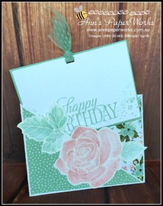 Criss Cross Card featuring Stampin' Up! Rose Wonder and Birthday Bouquet |Ann's PaperWorks| Ann Lewis| Stampin' Up! (Aus) online store 24/7