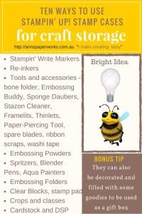 Stamp Cases  Craft Storage by Stampin' Up!   Ann's PaperWorks  Ann Lewis  Stampin' Up! (Aus) online store 24/7