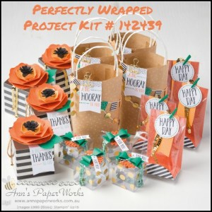 Perfectly Wrapped Kit Crafty Paper Bees Crafty Party 2016-17 Stampin' Up! Catalogue Ann's PaperWorks Ann Lewis Stampin' Up! (Aus)  online store 24/7