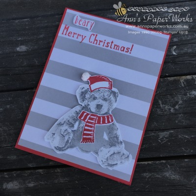 Baby Bear Stamp Set, Snow Place Stamp Set, Christmas in July, Stampin' Up! Ann's PaperWorks Ann Lewis Stampin' Up! (Aus)
