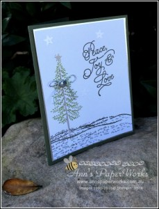 Thoughtful Branches Christmas card, CASE Dena Rekow, Ann's PaperWorks  Ann Lewis  Stampin' Up! (Aus) online store 24/7