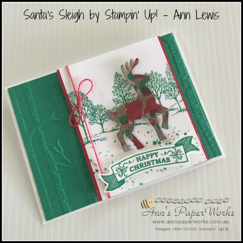 Santa's Sleigh project - Stampin' Up! Holiday Catalogue launch, Stampin' Up! Ann's PaperWorks Ann Lewis Stampin' Up! (Aus) Stampin' Up! 2016 Holiday Catalogue  online store 24/7
