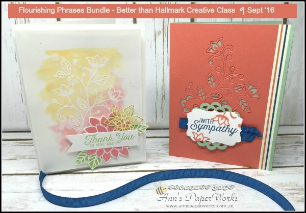 September Better Than Hallmark Creative Class - Flourishing Phrases Bundle, 2016-17 Stampin' Up! Catalogue Ann's PaperWorks Ann Lewis Stampin' Up! (Aus)  online store 24/7