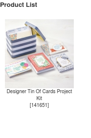 Tin of Cards Project Kit, Ann's PaperWorks| Ann Lewis| Stampin' Up! (Aus) available from my online store 24/7