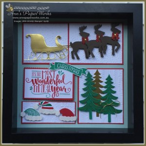Santa's Sleigh Christmas Sampler, Stampin' Up! Ann's PaperWorks, Ann Lewis, Stampin' Up! (Aus)|Stampin' Up! 2016 Holiday Catalogue| online store 24/7