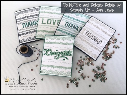 Sale-a-Bration Delicate Details Stamp Set and Double Take Stamp Set, Stampin' Up! Ann's PaperWorks, Ann Lewis, Stampin' Up! (Aus) Stampin' Up! 2017 Occasions Catalogue  online store