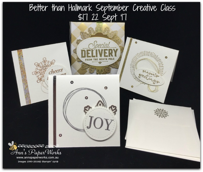 Year of Cheer Suite, Better than Hallmark Creative Class, cardmaking class, Stampin' Up! 2017 Christmas Holiday Catalogue Ann's PaperWorks  Ann Lewis  Stampin' Up! (Aus) online store 24/7